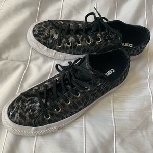 CONVERSE Snow Leopard Print Sneakers NWT